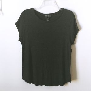 Forever 21 Charcoal Gray Knit Short Sleeve Tee